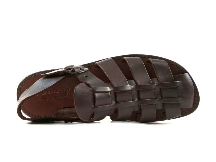 Mens-Poste-Classic-Thong-Sandal-Choc-Leather-Sandals