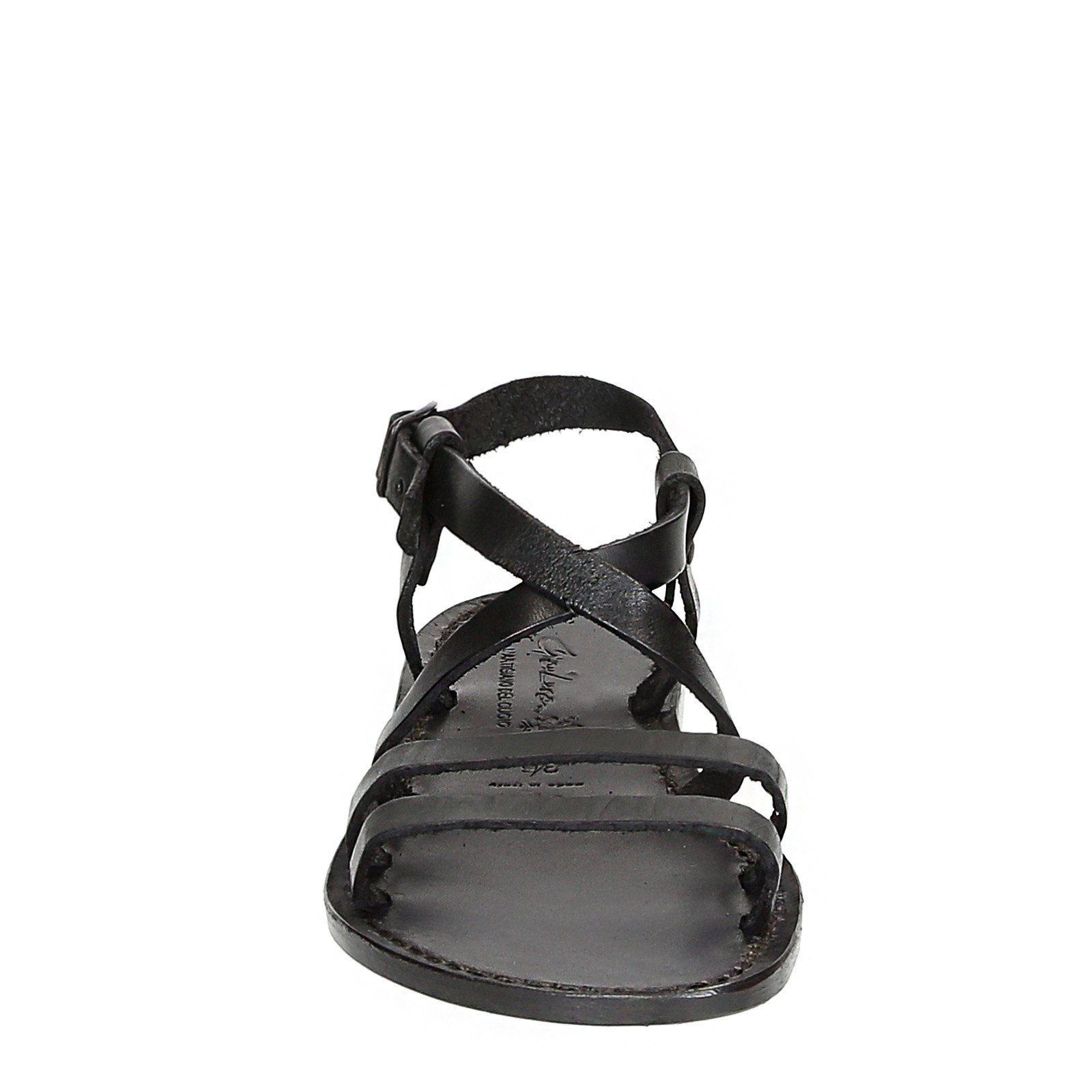 Details about  /Handmade women/'s franciscan sandals shoes in black real leather Made in Italy