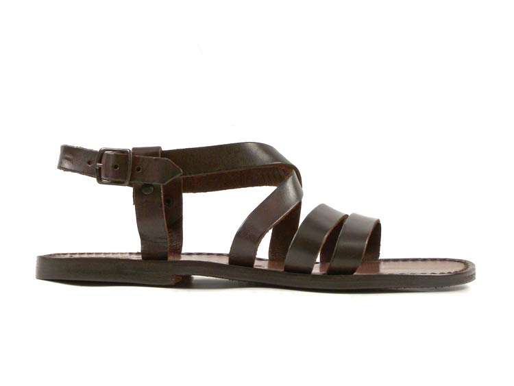73298cedf432 Handmade in Italy mens dark brown leather Franciscan ankle strap ...