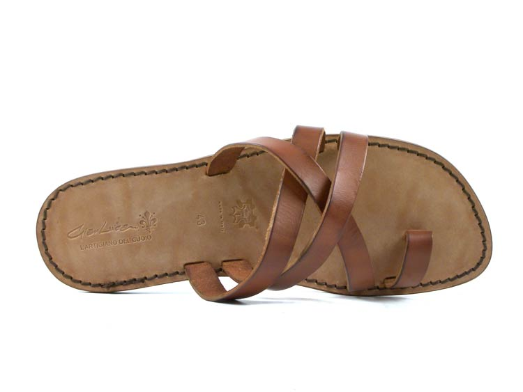 Mens leather thong flip flop sandals sandals sandals handmade in  in vintage cuir leather 918197