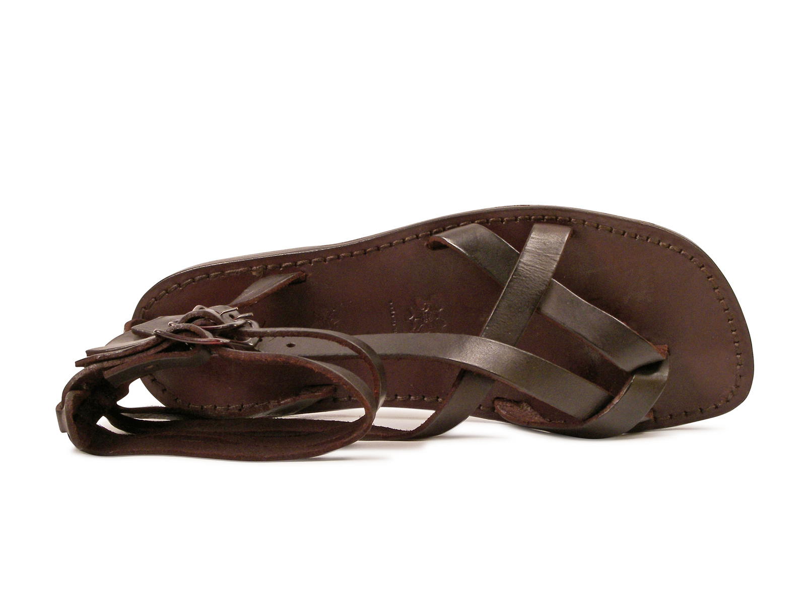 48f42f2c38d15 Brown men s ankle strap gladiator sandals Handmade in Italy