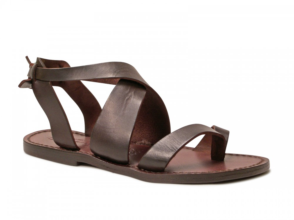 Original MIDSUMMER Brown Leather Sandals  Women Shoes  Leather Shoes