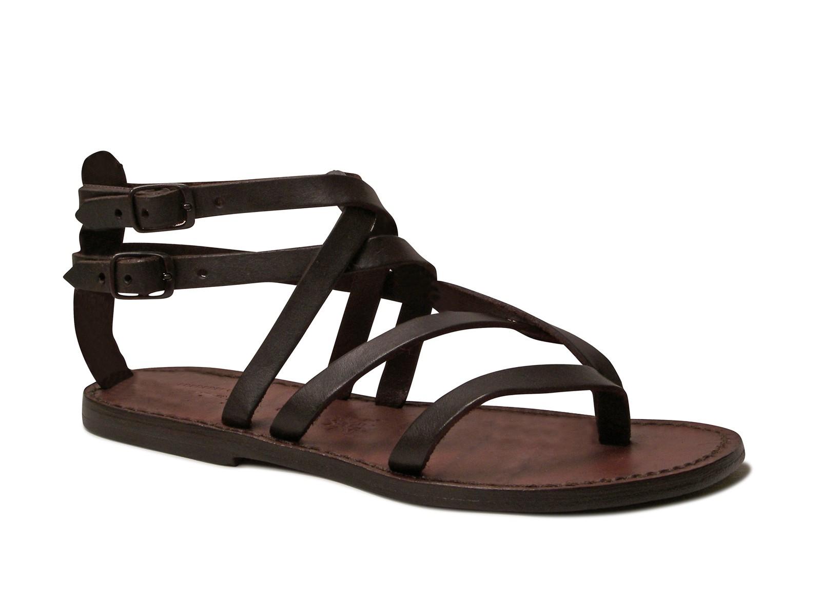 Brilliant Open Toe Greek Brown Leather Sandals Women Greek Sandals