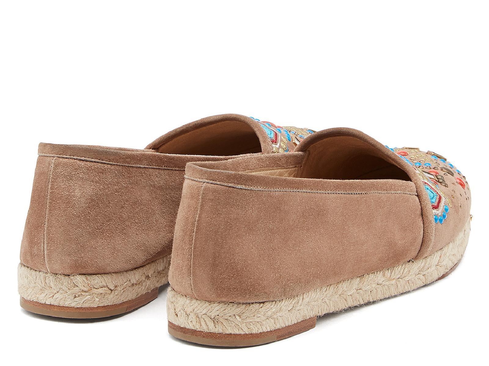 Giuseppe Zanotti women espadrilles flat shoes in Light Brown Chamois Chamois Chamois leather a9ae5e
