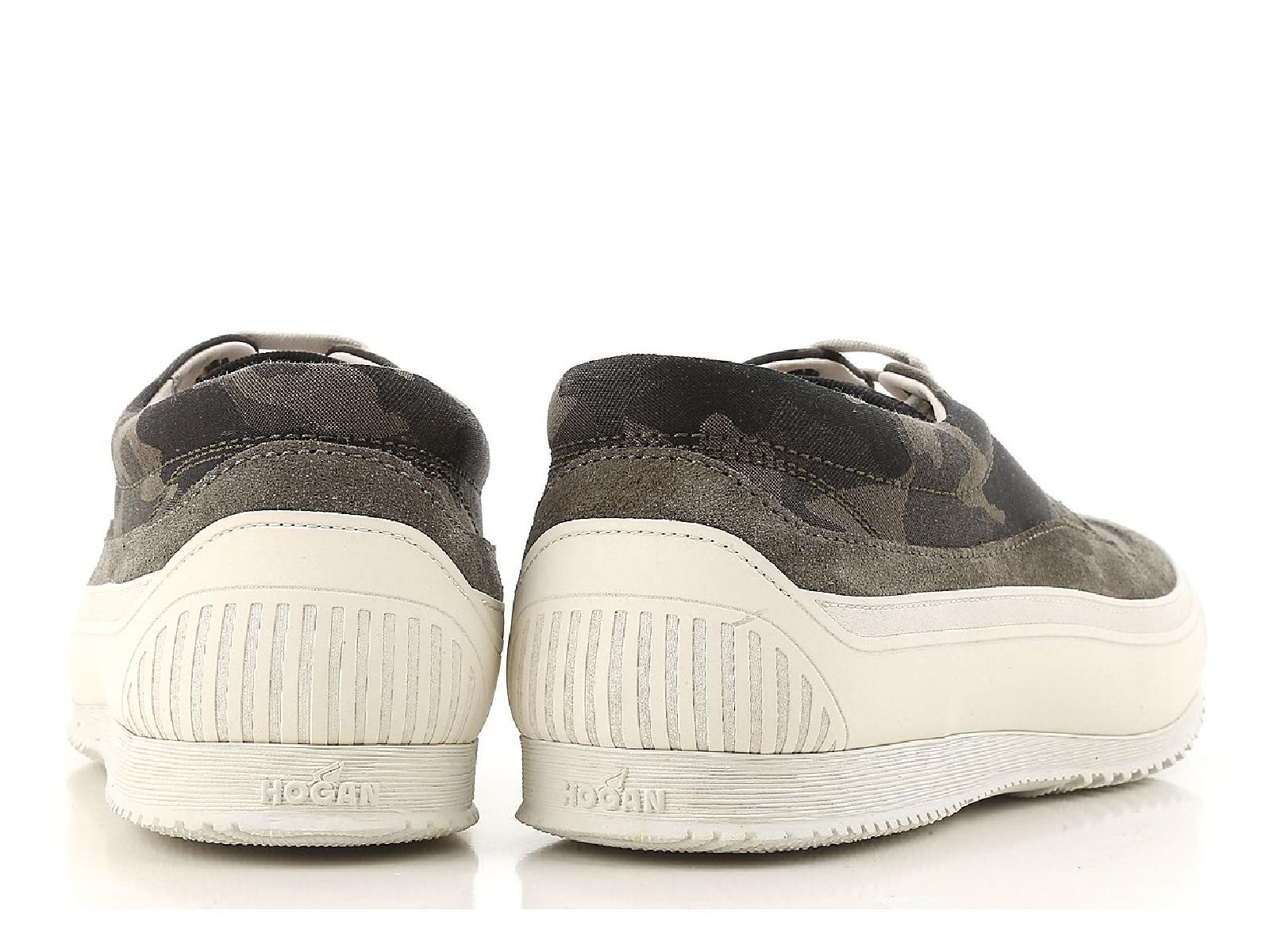 ac310977c3e72 Hogan men's low top fashion sneakers shoes camouflage fabric white ...
