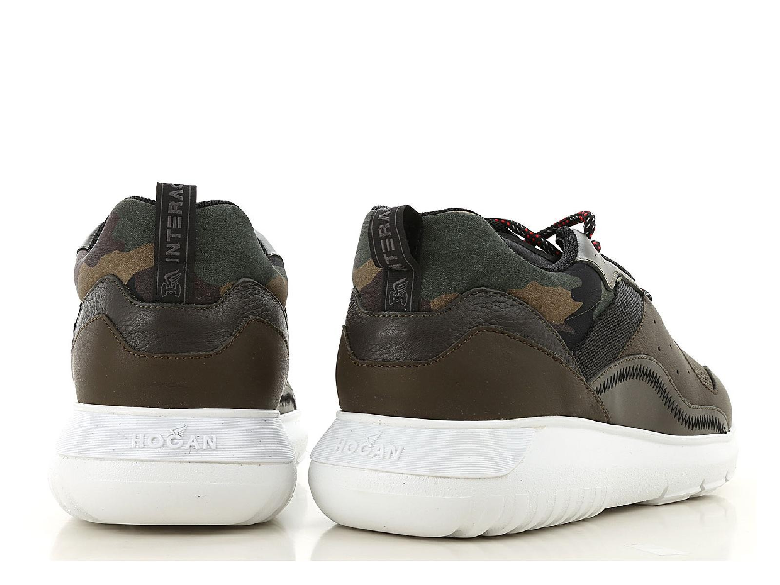 a3058ac79abe5 Hogan INTERACTIVE3 Men's sneakers shoes in camouflage fabric and ...