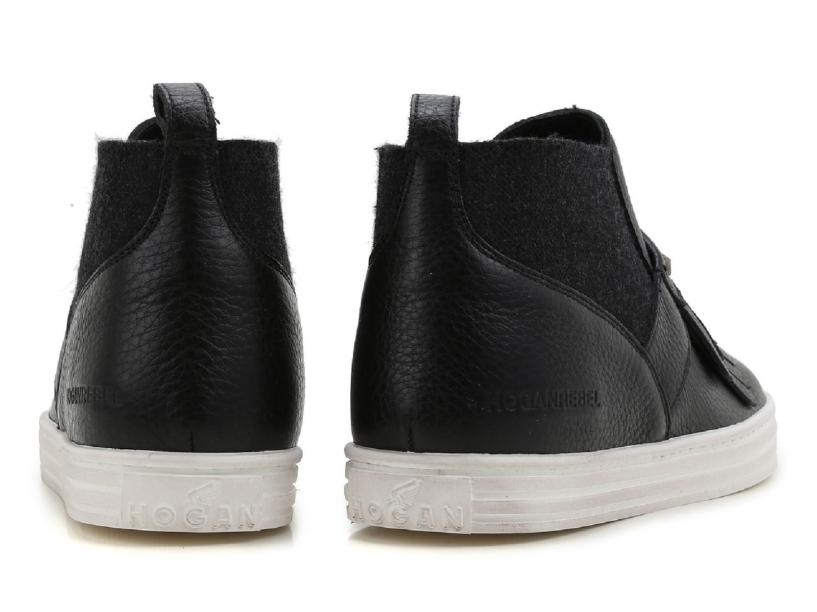 4fde6caa5c Hogan women's slip-ons ankle boots high top sneakers black leather ...