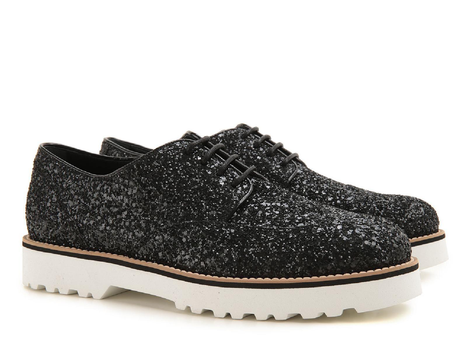 chaussures lacets hogan femme en cuir et paillettes italian boutique. Black Bedroom Furniture Sets. Home Design Ideas