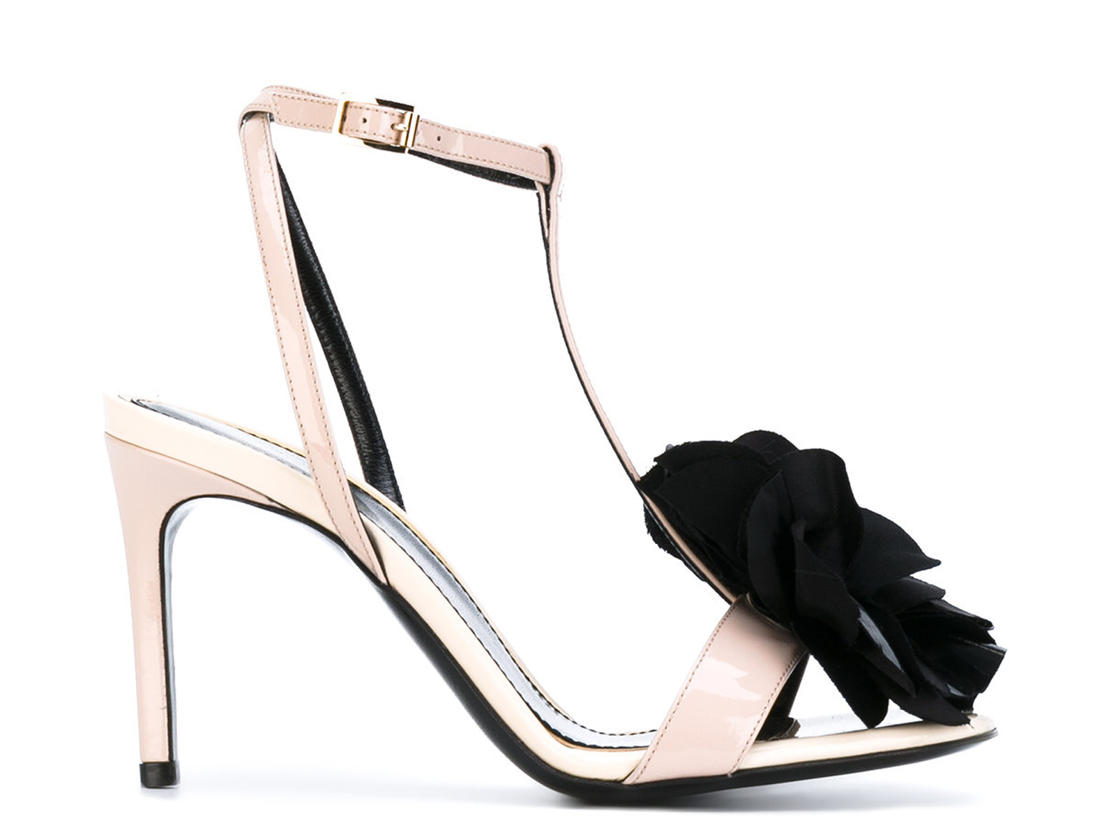 Lanvin-Women-039-s-high-stiletto-heels-sandals-in-Powder-Patent-Leather-ankle-straps thumbnail 6