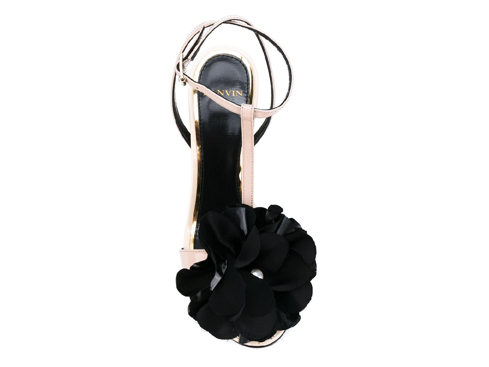 Lanvin-Women-039-s-high-stiletto-heels-sandals-in-Powder-Patent-Leather-ankle-straps thumbnail 8