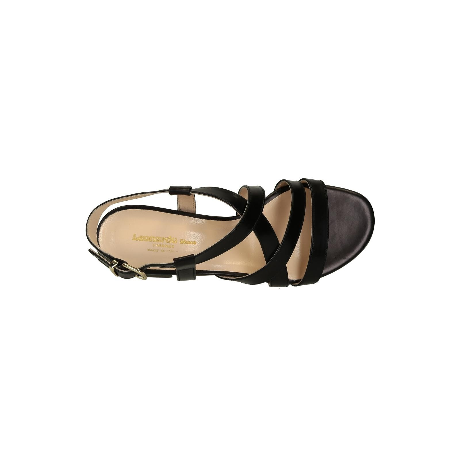Black leather sandals low heel -  Low Heels Black Leather Strappy Sandals For Women 5