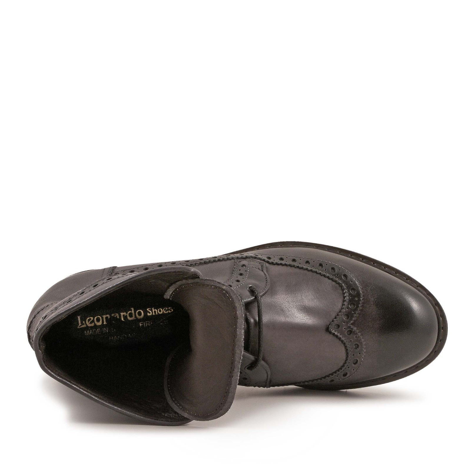 handmade s grey italian calf leather wingtip boots