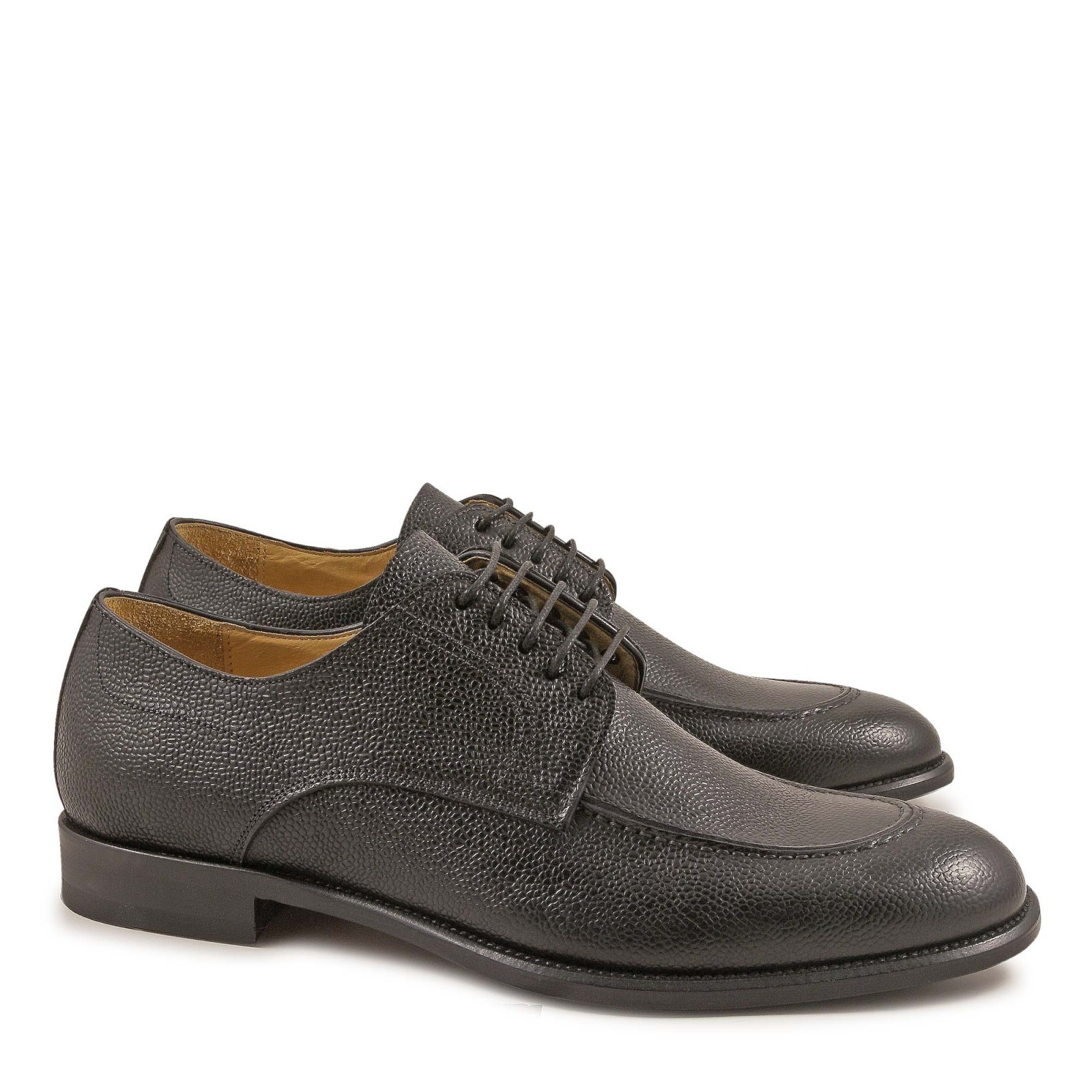 black leather derby shoes for made in italy italian