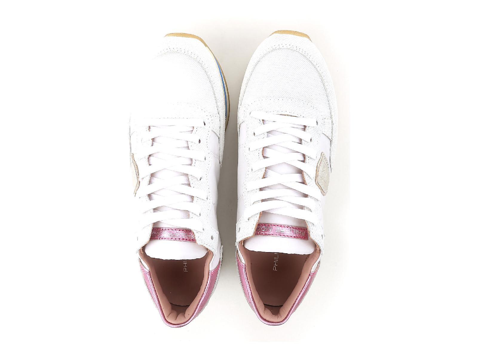 Philippe Model Donna Basse Lacci Scarpe Scarpe Scarpe Da Ginnastica Athletic scarpe in pelle bianca 4aabc7