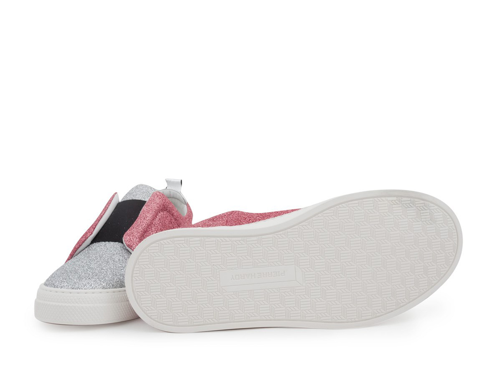 Pierre Hardy slip-ons fashion trainers trainers trainers luxury shoes in silver pink glitter 5e5f1c