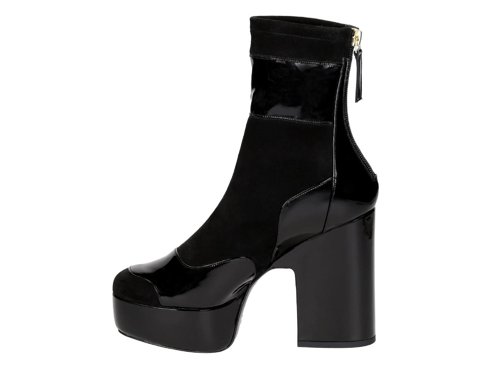 Pierre-Hardy-Women-039-s-mid-calf-boots-with-high-block-heels-in-black-Suede-leather thumbnail 9