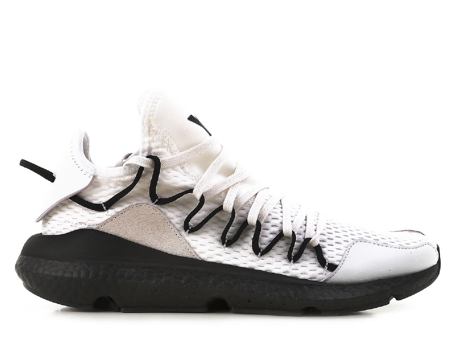 634161ed7 Y3 men s low top Kusari white lace up sneakers athletic shoes